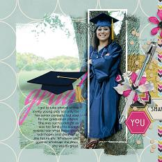 Graduation #digitalscrapooking layout using Blended Over layout templates by AFT Designs | Amanda Fraijo-Tobin at ScrapGirls.com #photoshop #scrapbooking