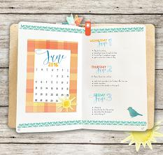 Plan Perfect June Planner Kit Layout
