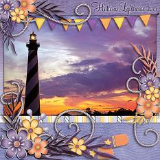 Hatteras Lighthouse Layout by Laura Louie