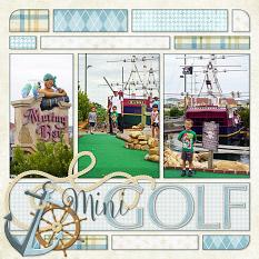 Mini Golf layout by Laura Louie