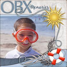 OBX Memories Layout by Laura Louie
