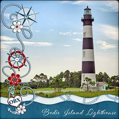 Bodie Island Lighthouse Layout by Laura Louie