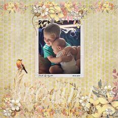 """Brother"" digital scrapbook layout by Andrea Hutton"