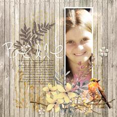 """Belle"" digital scrapbook layout by Amy Flanagan"