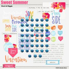 Sweet Summer Alpha & Word Art