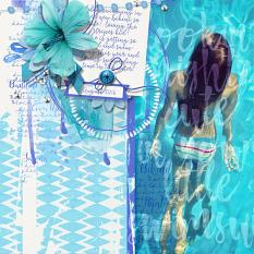 Pool Girl layout by Brandy Murry