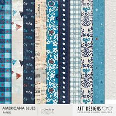 America Blues #digitalscrapbooking paper backgrounds by Amanda Fraijo-Tobin - 12x12 printable paper backgrounds #scrapbook #hybrid #printables