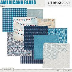 "#digitalscrapbooking background Papers included in ""Americana Blues"" printable backgrounds"