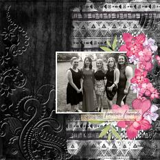"""Forever Friends"" digital scrapbook layout by Valerie Tuffrey"