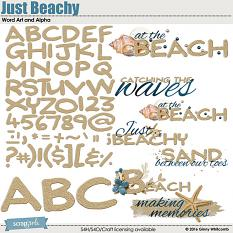 Just Beachy Word Art and Alpha