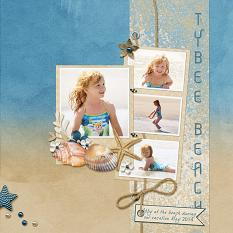"""Tybee Beach"" layout using Just Beachy Collection"