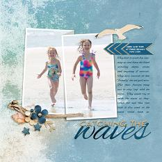 """Catching The Waves"" layout featuring Just Beachy Collection"