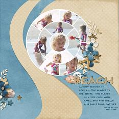"""At The Beach"" layout using Just Beachy Collection"