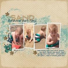 """Sand Between Our Toes"" layout featuring Just Beachy Collection"