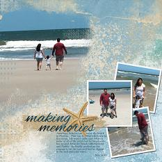 """Making Memories"" layout featuring Just Beachy Collection"