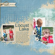 """Locust Lake"" layout using ScrapSimple Digital Layout Templates:  Just Blend It"
