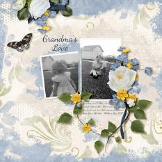 """A Grandma's Love"" layout using ScrapSimple Digital Layout Templates:  Just Blend It"