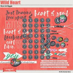 Wild Heart Alpha & Word Art