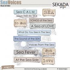 Sea Voices Word Art Mini