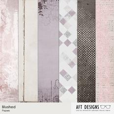 Samples of #printable digital scrapbooking backgrouds - Blushed Papers | AFTdesigns.net available @ ScrapGirls.com