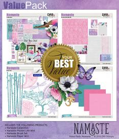 Value Pack: Namaste by DRB Designs | ScrapGirls.com