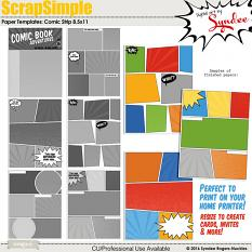 Comic Strip 8.5x11 Templates