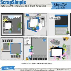 ScrapSimple Digital Layout Album Templates: 12x12 One Hit Wonder Mini 2