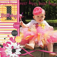 Layout using ScrapSimple Digital Layout Album Templates: 12x12 One Hit Wonder Mini 2