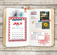 Plan Perfect July Mini Planner Kit Layout