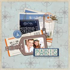 Digital scrapbooking layout by Armi Custodio using Brush Set: Travel Stamps