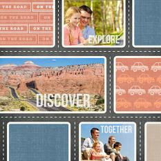 Digital scrapbooking layout by Armi Custodio using SS Paper Templates: Going Places