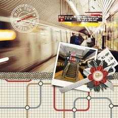 Digital scrapbooking layout by Angie Briggs using ScrapSimple Paper Templates: Going Places