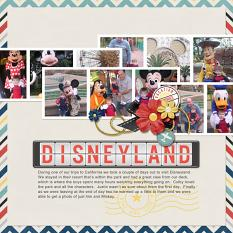 Digital scrapbooking layout by Angie Briggs using ScrapSimple Alpha Templates: Airport Signboard