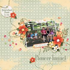 """Pioneer Tunnel"" layout featuring A Beautiful Day Collection"