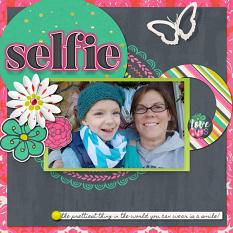 selfie layout using ScrapSimple Tools - Styles: Neon Bright