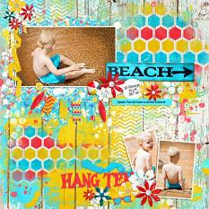 """Happy Place"" Digital Scrapbooking Layout By Andrea Hutton"