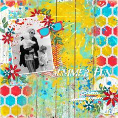 """Summer Fun"" Digital Scrapbook Layout by Cindy Rohrbough"