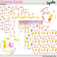 Summer Sweet Watercolor Papers