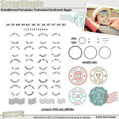 ScrapSimple Embellishment Templates: Postmarked Sentiments