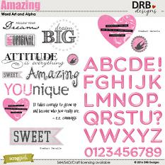 Amazing Word Art and Alpha by DRB Designs | Scrapgirls.com