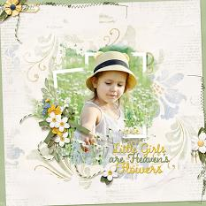 """Heaven's Flowers"" featuring using ScrapSimple Embellishment Templates:  Stacked Photos Vol. 6"