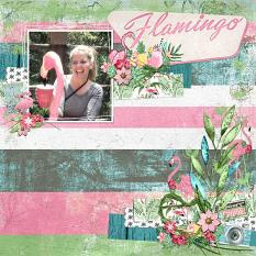 """""""Tropical Paradise"""" Digital Scrapbooking Layout By Andrea Hutton"""
