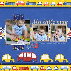 My Little Man layout by Susie Roberts