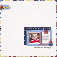 My Little Man layout by Nann Dalton