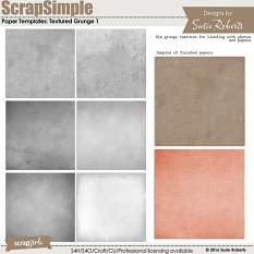 Scrap Simple Paper Templates: Textured Grunge 1 Prev