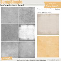 Scrap Simple Paper Templates: Textured Grunge 2 Prev
