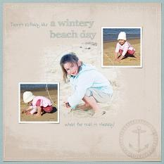 Wintery Beach Day by Susie Roberts