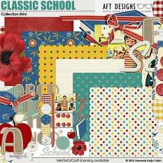 Includes: Classic #School #digitalscrapbooking kit
