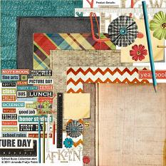 #digitalscrapbooking Bundle includes: School Rules Collection by Amanda Fraijo-Tobin