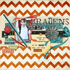 #digitalscrapbooking layout back to school idea by Amanda Fraijo-Tobin | AFTdesigns @ ScraGirls.com